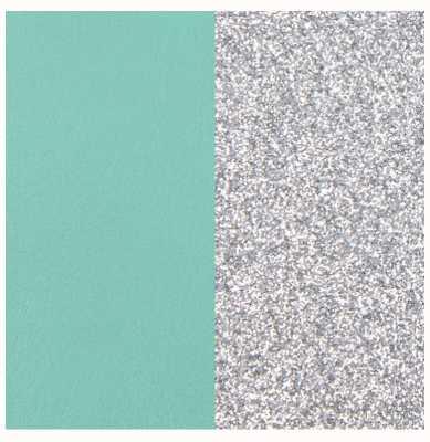 Les Georgettes 25mm Leather Insert | Aqua/Silver Glitter 702755199CX000
