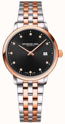 Raymond Weil | Women's Toccata | Two-Tone Bracelet | Black Diamond Set 5985-SP5-20081