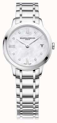 Baume & Mercier Classima Diamond | Stainless Steel Bracelet | Mother Of Peal M0A10326