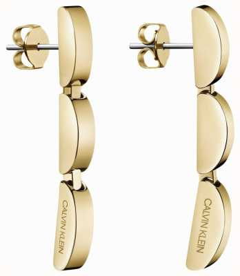 Calvin Klein | Small Gold Tone Wave Drop Earrings | KJAYJE100200