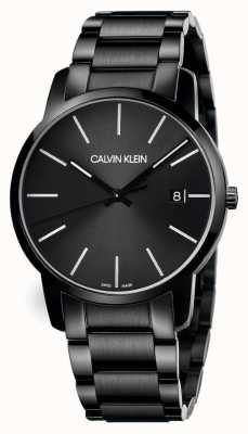 Calvin Klein | Men's City | Black Stainless Steel Bracelet | Black Dial | K2G2G4B1
