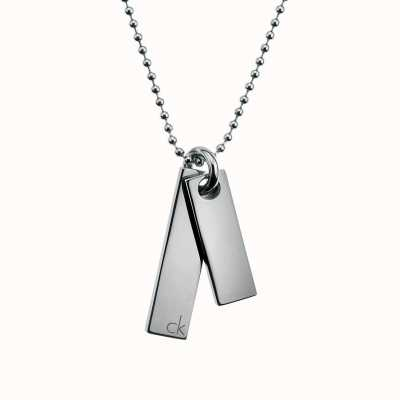 Calvin Klein Steel Dog Tag Necklace KJ06BN010100