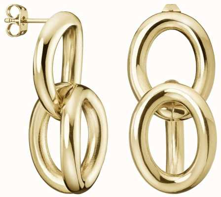 Calvin Klein | Statement | Gold Tone | Steel Drop Earrings | KJALJE100200