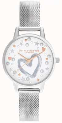 Olivia Burton Rose Gold & Silver Mesh OB16LH12