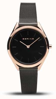 Bering   Unisex   Ultra-Slim   Black Mesh Bracelet   17031-166