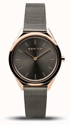 Bering   Unisex   Ultra-Slim   Grey Mesh Bracelet   17031-369