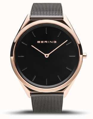 Bering | Unisex | Ultra-Slim | Black Mesh Bracelet | 17039-166