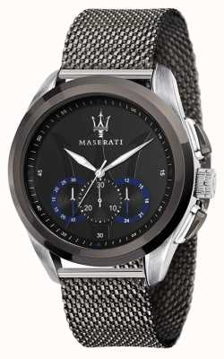 Maserati Traguardo | Grey Steel Mesh Bracelet | Black Dial R8873612006