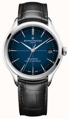 Baume & Mercier Clifton   Baumatic   Cadran Blue Dial   Black Strap M0A10467