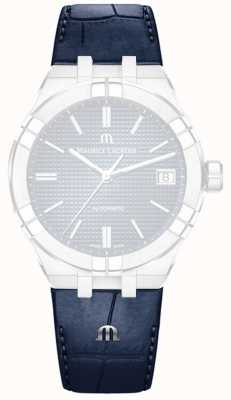 Maurice Lacroix Crocodile Imitation Blue Leather Strap ONLY (no buckle) ML800-005036