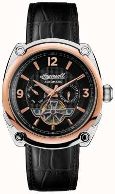 Ingersoll Men's 1892 The Michigan | Black Leather Strap | Black Dial I01102B
