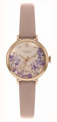 Radley | Women's Nude Leather Strap | Floral Print Dial | RY2980