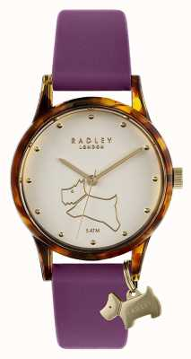 Radley | Women's Purple Silicone Strap | Off-White Dial RY2850