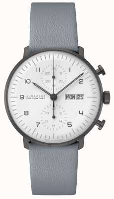 Junghans Max Bill Chronoscope | 40mm Black & White Ex-Display 027/4008.05 Ex-Display