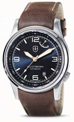 Elliot Brown | Tyneham | Blue Dial | Brown Leather Strap 305-D07-L22