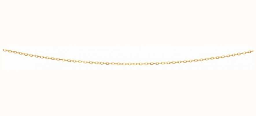 "Elements Gold 9ct Yellow Gold  Flattened Cable Chain 18"" GN277"