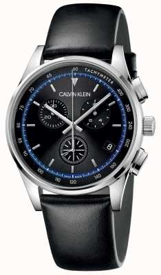 Calvin Klein | Completion | Black Leather Strap | Black Dial | KAM271C1