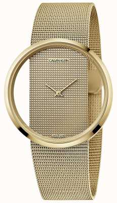 Calvin Klein | Glam | Gold PVD Plated Steel Mesh Bracelet | Gold Dial | K9423Y29