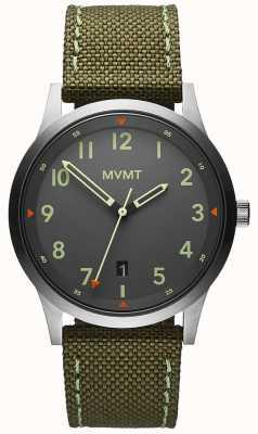 MVMT Men's | Field | Green Canvas Strap | Grey Dial 28000014-D