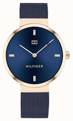 Tommy Hilfiger Liberty   Blue Mesh Bracelet   Blue Dial   1782219