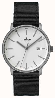 Junghans FORM A | Titan | Automatic | Black Nato Strap | White Dial 027/2000.00