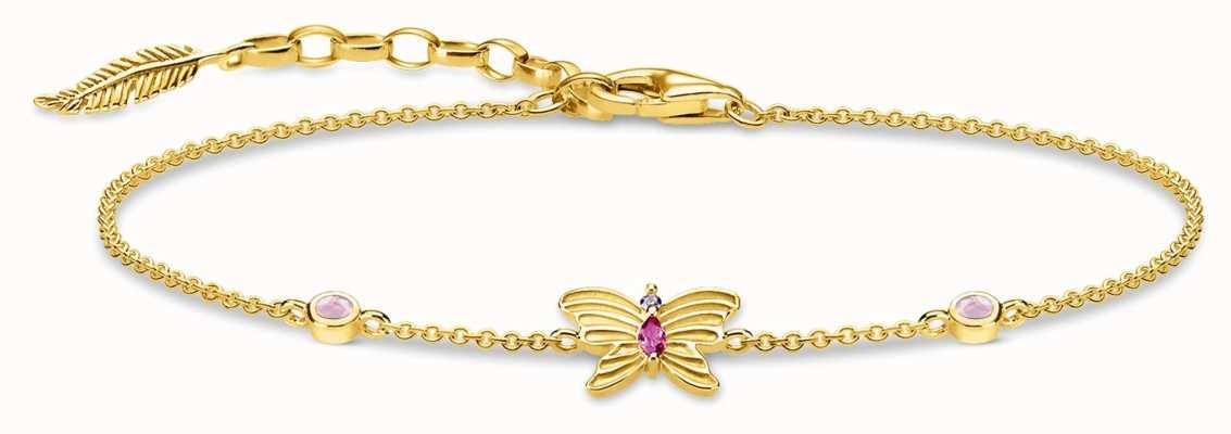 Thomas Sabo | Butterfly Gold Bracelet | 18K Gold Plated Sterling Silver A1937-488-7-L19V