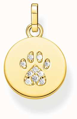 Thomas Sabo | 'Cat Paw' Gold Plated Pendant Charm | PE882-414-14