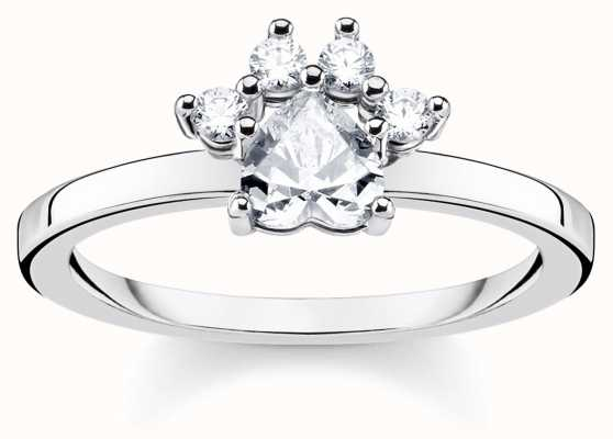Thomas Sabo | Glam And Soul | Sterling Silver 'Cat Paw' Ring | 52 TR2289-643-14-52