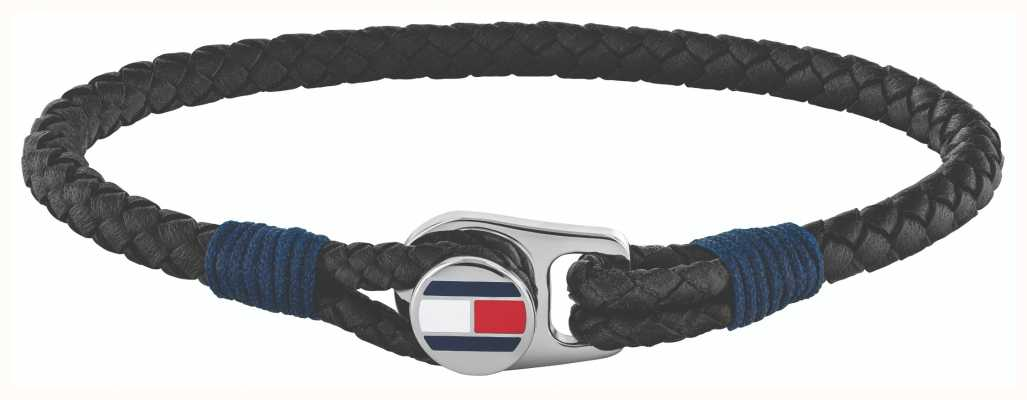 Tommy Hilfiger | Men's Casual | Black Leather Bracelet | 2790205S