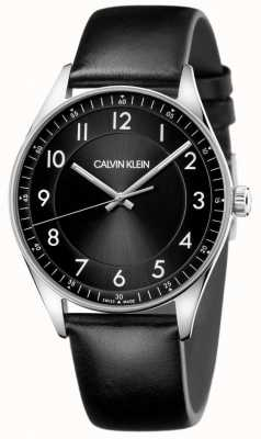 Calvin Klein | Bright | Black Leather Strap | Black Dial | KBH211C1