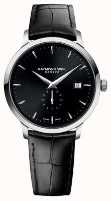 Raymond Weil Men's | Toccata | Black Leather Strap | Black Dial 5484-STC-20001