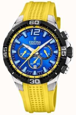 Festina Chrono Bike 2020 Blue Dial Yellow F20523/5