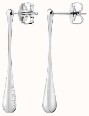 Calvin Klein Ellipse | Stainless Steel Silver Drop Earrings KJDMME000100