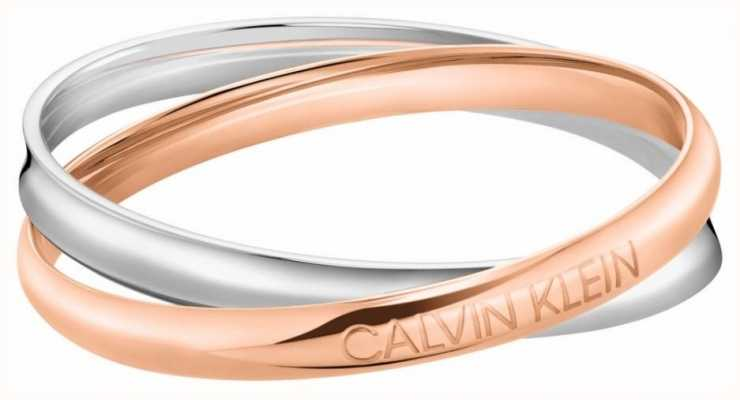 Calvin Klein Entwined Two-Tone Stainless Steel Bangle KJDFPD20010M