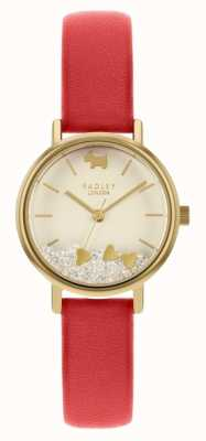 Radley Women's Love Hearts | Red Leather Strap | Cream Dial RY2988