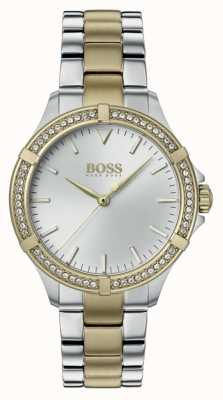 BOSS | Women's Mini Sport | Two-Tone Steel Bracelet | Silver Dial 1502467