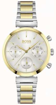 BOSS Flawless | Women's Two-Tone Steel Bracelet | Silver Dial 1502550