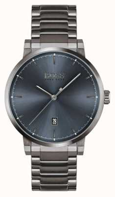 BOSS Confidence | Grey Ion Plated Bracelet | Blue Dial 1513793