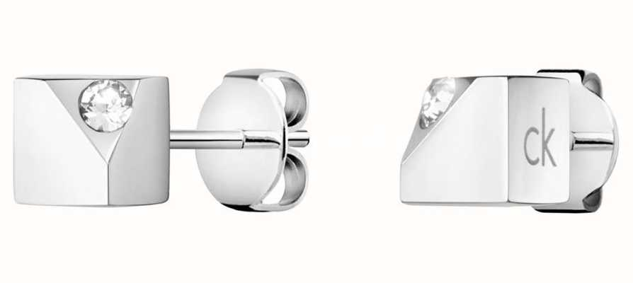 Calvin Klein Tune | Stainless Steel Crystal Stud Earrings KJ9MME040600