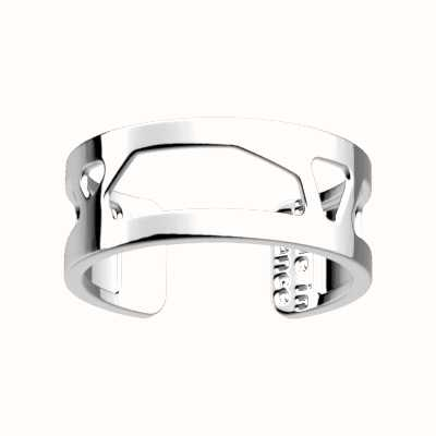 Les Georgettes 8mm Girafe Silver Finish Ring (EU Size 58 - UK Q 1/2) 70326131600058