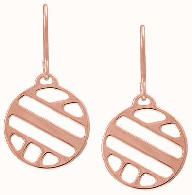 Les Georgettes 16mm Ruban Rose Gold Sleeper Earrings 70318954100000