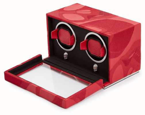 WOLF Memento Mori Red Double Cub Watch Winder With Cover 493272