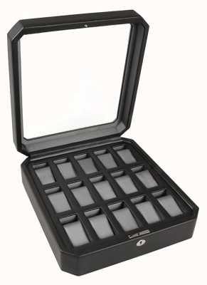 WOLF Windsor Black/Grey 15Pc Watch Box 458529