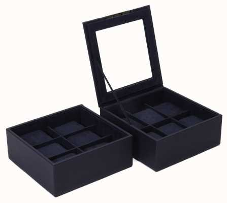 WOLF Stackable Watch Tray Navy 6Pc Set Of 2 319617