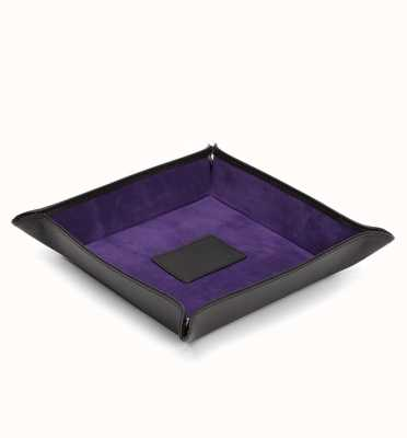 WOLF Blake Black Pebble/Purple Coin Tray 305728