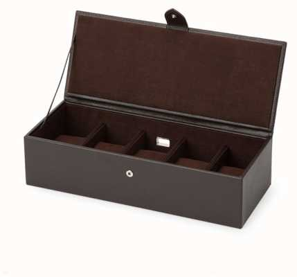 WOLF Blake Brown Pebble 5 Piece Watch Box 305506