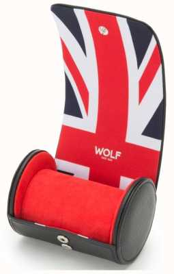 WOLF Navigator Union Jack Single Watch Roll 523203