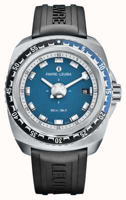Favre Leuba Raider Deep Blue 41 | Black Rubber Strap | Blue Dial | 00.10106.08.52.31