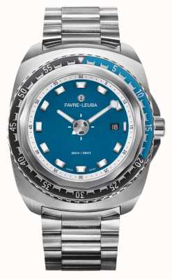 Favre Leuba Raider Deep Blue 44 | Stainless Steel Bracelet | Blue Dial | 00.10102.08.52.20