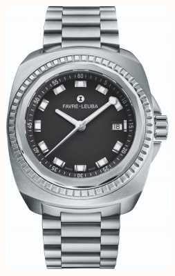Favre Leuba Raider Sea King | Stainless Steel Bracelet | Black Dial | 00.10107.08.11.20